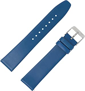 Quick Release Watch Band, Genuine Leather Strap Available in 6 Colors (Brown,Black, Off White, Dark Blue, Red, Yellow)