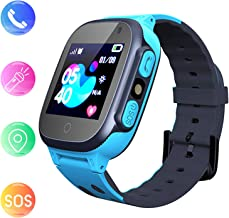 Kids smartwatch Phone Watches for Children with LBS Tracker sim Card Anti-Lost sos Call Boys and Girls Birthday Compatible Android iOS Touch Screen Voice Chat Remote Camera