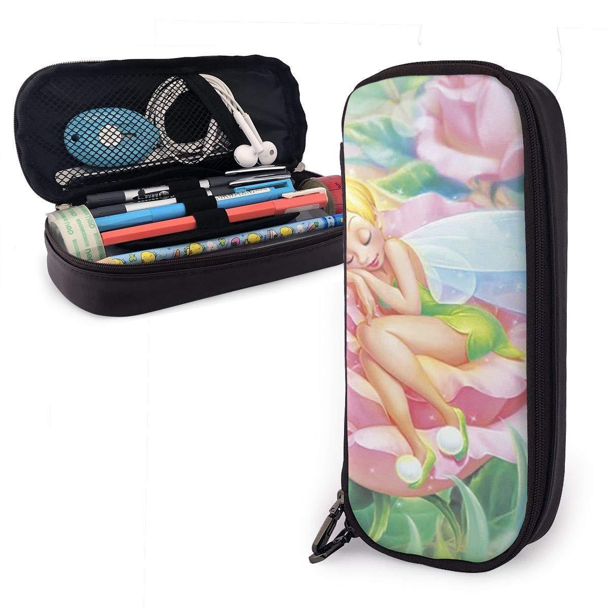 Estuche para lápices Tinkerbell para dormir Bolso para lápices de gran capacidad Maquillaje Estuche para bolígrafos Papelería con doble cremallera Portalápices para escuela/oficina: Amazon.es: Oficina y papelería