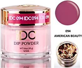 DND DC Purples DIP POWDER for Nails 1.6oz, 45g, Daisy Dipping (with bonus side Glitter) Made in USA (American Beauty (094))