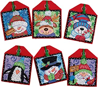 Dimensions Counted Cross Stitch Christmas Pals Ornament Kit, 6 pcs