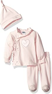 Kushies Baby Girls Mix N Match Unionsuit Lt Pink Heart