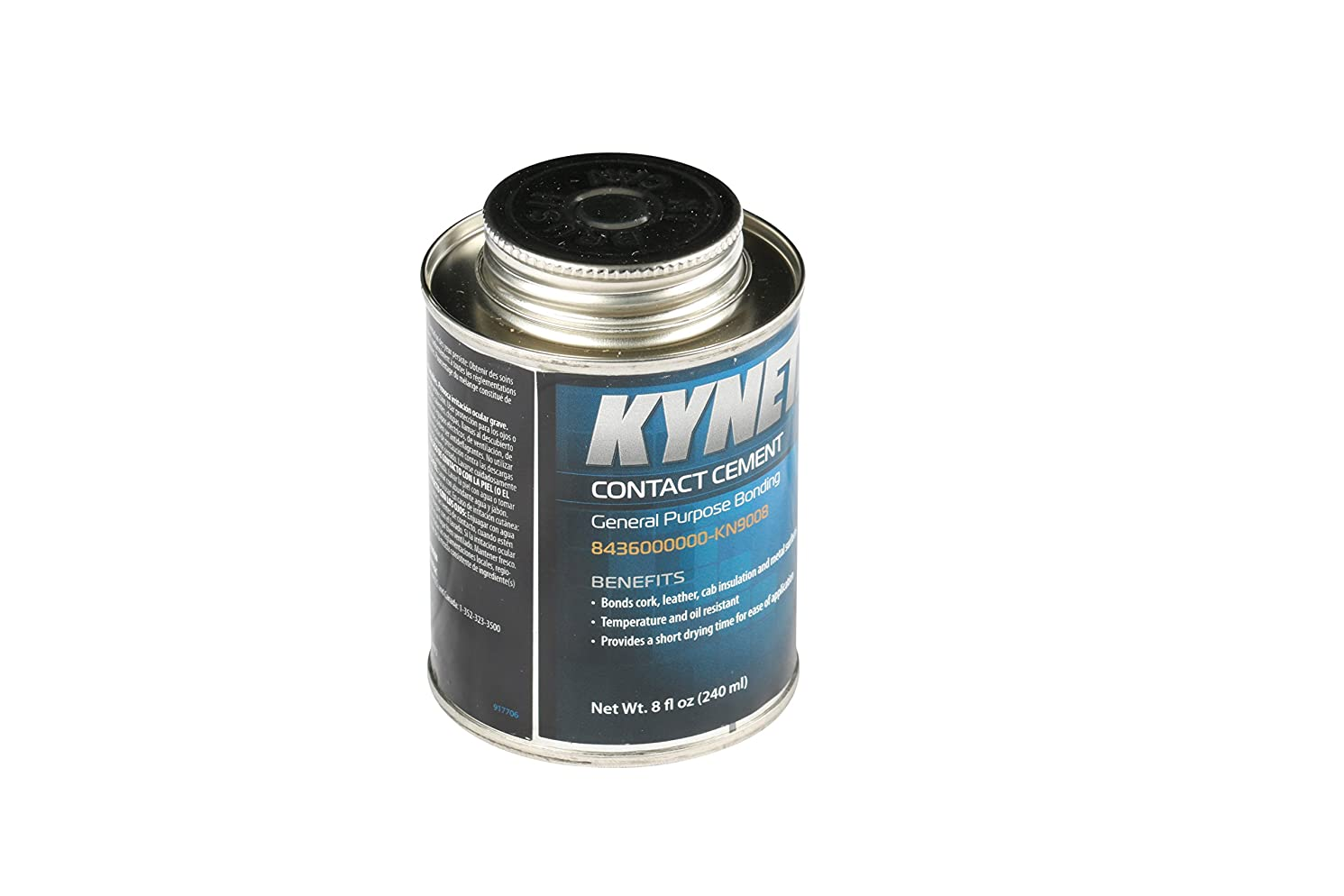 Kynetx Contact Cement, 8 Oz Can 8436000000-KN9008 - Durable, Easy To Apply Green Adhesive. Industrial and Automotive Adhesives