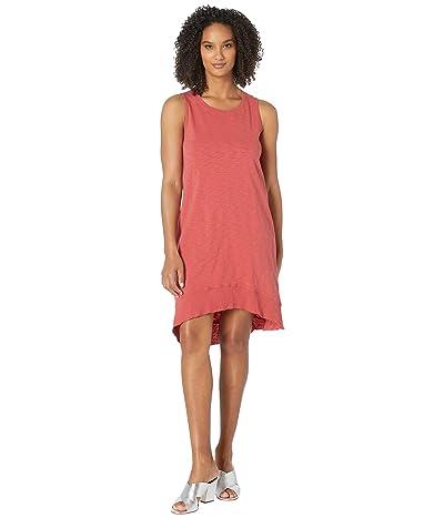 Dylan by True Grit Luxe Cotton Slub High-Low A-Line Tank Dress (Currant) Women