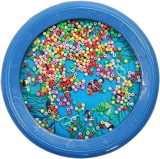 Kinshops Moda LYH18P Ocean Wave Bead Drum Sea Sound Juguetes educativos Musicales Atraer la atención Juguetes de Aprendizaje para Regalo, Azul