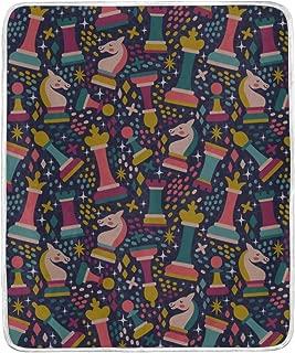 ZHRX Throw Blanket Pattern Chess Pieces Cute Soft Blanket Warm Plush Blanket for Sofa Chair Bed Office Gift Best Friend Women Men 50