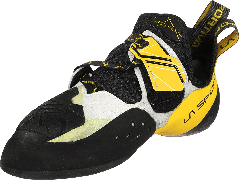 La Sportiva Solution White/Yellow, Zapatos de escalada Unisex niños