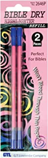 Bible Dry Highlighter Refills (2) Pink Carded