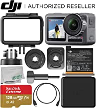 DJI Osmo Action 4K Camera with 128GB Basic Accessory Bundle – Includes: SanDisk Extreme 128GB microSDXC Memory Card (UHS-I / V30 / A2 / U3 / Class-10) + Microfiber Cleaning Cloth