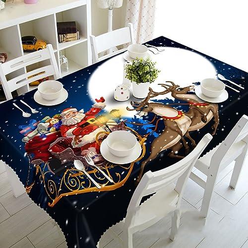 Küchenwäsche Tischdecke 3D Rechteckige Tischdecke Matte - Umweltfreundlich und Unscented - Digital gedruckt wasserdicht ME88 (Größe   Rectangular -178cmx274cm)
