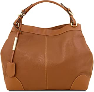 Tuscany Leather Ambrosia Borsa shopping in pelle morbida con tracolla