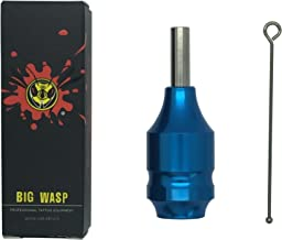 BIGWASP Premium Quality Aluminium Alloy Tattoo Cartridge Grip For Needle Cartridges (Black)