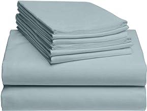 "LuxClub 6 PC Sheet Set Bamboo Sheets Deep Pockets 18"" Eco Friendly Wrinkle Free Sheets Hypoallergenic Anti-Bacteria Machin..."