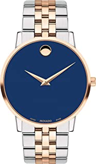 Movado Watch for Men 40Mm, Red & Silver, 0607267