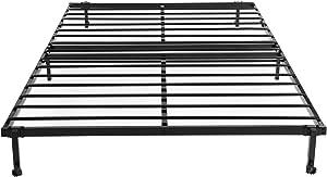 H.J WeDoo lit 2 Place Cadre de Lit Pliant Structure de Lit en Métal avec 4 Roues 140 x 196 cm, Noir