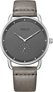 Unisex Fashion Analog Quartz Simple Slim Watches on Sale with Leather Strap for Young