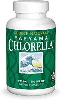 Source Naturals Yaeyama Chlorella 200mg Algae Superfood Nutritional Supplement Source Of B-12, Iron, Protein & Vitamin A -...