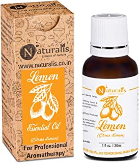 Naturalis Essence of Nature Cold Pressed Lemon Essential Oil 100% Pure, Natural & Undiluted Therapeutic Grade for Skin Pig...
