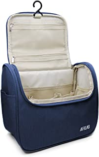 Hanging Toiletry Bag, Airlab Large Makeup Bag Cosmetic Bag, Hygiene Bag Travel Toiletry Organizer for Men and Women Bathroom Bag, Size: 9.45 x 7.65 x 5 inch, Navy