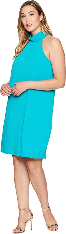 Plus Size Solid Sleeveless Dress