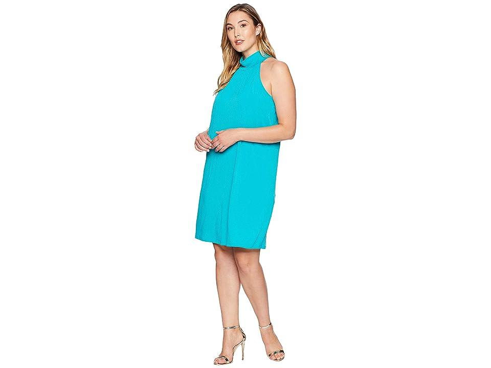MICHAEL Michael Kors Plus Size Solid Sleeveless Dress (Tile Blue) Women