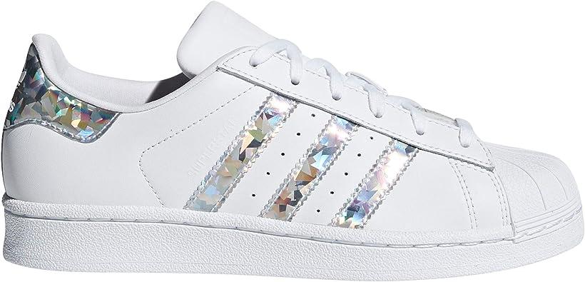 adidas Superstar, Sneakers Basses Femme.g0 (38 EU, White - Iris ...