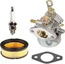 HIFROM 640349 640054 640052 Carburetor Carb with 33268 33263 Air Filter Spark Plug Kit for Tecumseh HMSK80 HMSK90 HMSK100 HMSK105 HMSK110 8HP 9HP 10HP Snow Blower