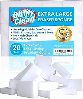 (20 Pack) Extra Large Eraser Sponge - Extra Thick, Long Last