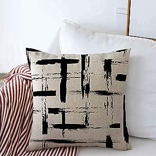 Throw Pillow Case Paint Geometric Brush Cross Strokes Book Vintage Grange Modern Ink Design Abstract Decorative Home Square Sofa Pillowcase 16