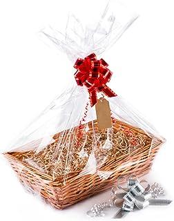 Gift Tag Shred White Tray Bag Bow Make Your Own Gift Basket DIY Hamper Kit