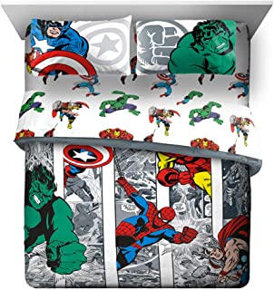 Jay Franco Marvel Avengers Comic Cool 7 Piece Queen Bed...