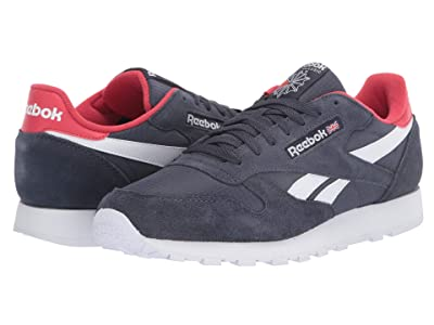 Reebok Lifestyle Classic Leather MU (Heritage Navy/Rebel Red/White) Men