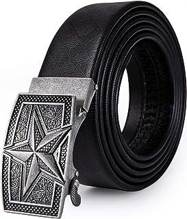 35 mm de la boucle de ceinture en cuir solide automatique de cliquet ceinture t/ête les hommes est /à 1-3//8
