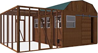 Chicken Coop Plans DIY Poultry Hen House with Run Kennel 12 x 16 Build Your Own