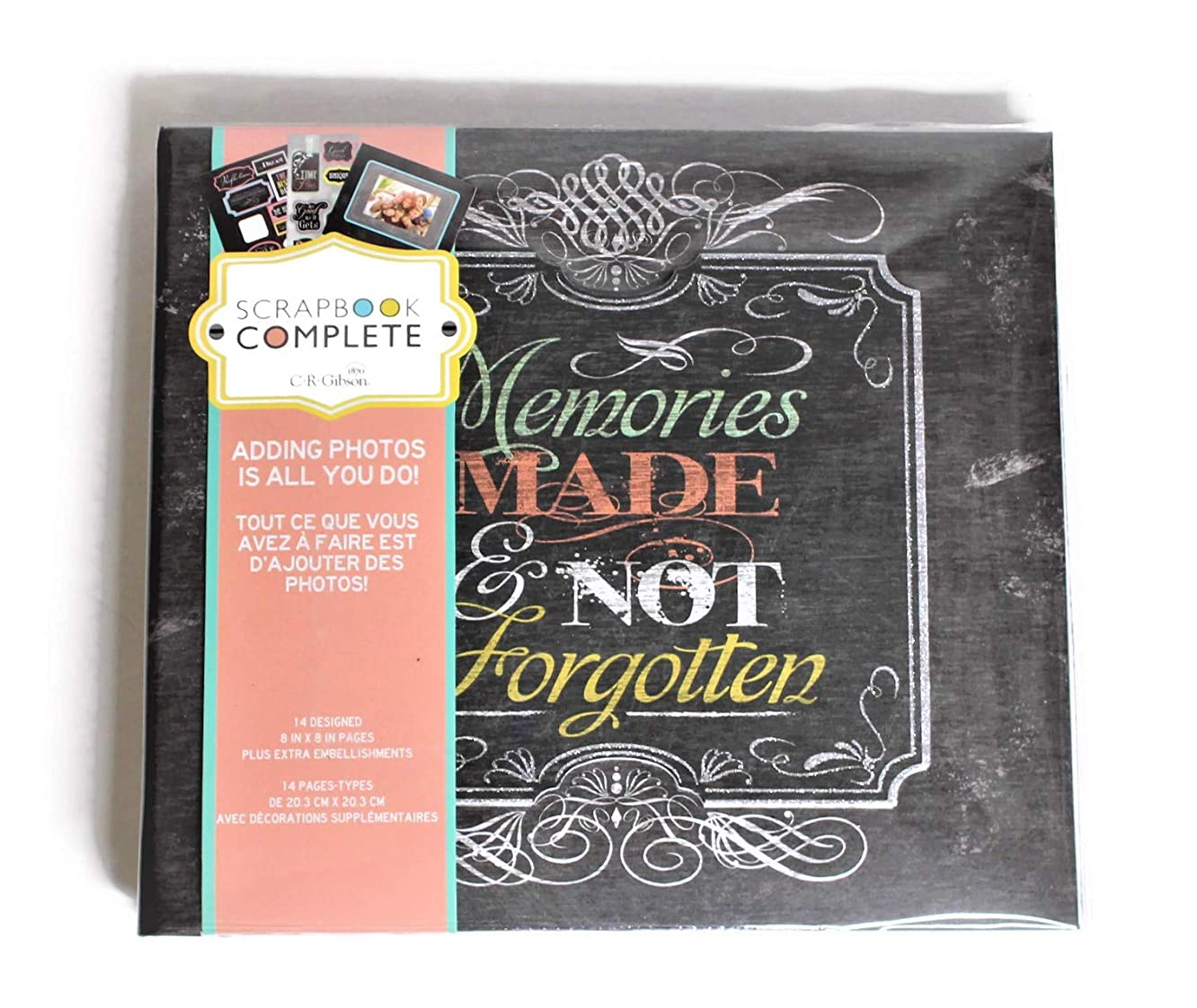 Tapestry Memories Themed, Keep Memories of Your Life Love Travel Happiness, Premade Scrapbook Post Bound Photo Album 8