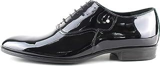 Oxford - Zapatos de ceremonia para hombre, clásicos, artesanales, de pintura negra con brillantes