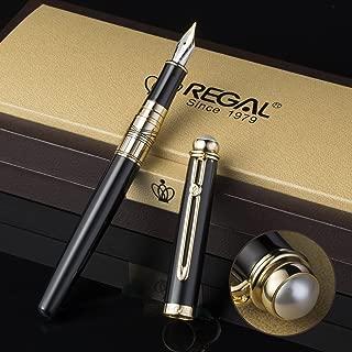 Regal The British Museum Commemoration Fountain Pen with Gift Box Set, Germany Iridium Medium Nib, Black Business Gift Pen