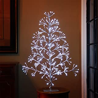 LIGHTSHARE 3ft Artificial Christmas Tree Light,White Light for Home Garden Decoration,Winter,Wedding,Birthday,/Christmas,Holiday,Party Decoration,Silver