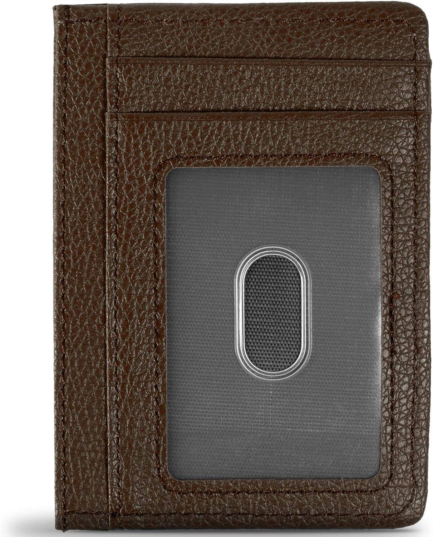 CoreLife RFID Blocking Synthetic Leather Minimalist Slim Wallets - 8 Card Slots