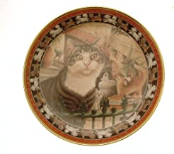Danbury Mint Lesley Anne Ivory's Cats Plate Harry in The Pekes and The Pollicles Cat GB150