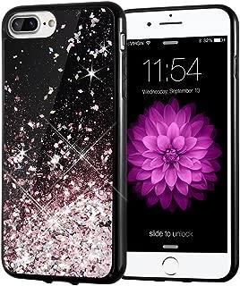 iPhone 7 Plus Case, Caka iPhone 8 Plus Case Starry Night Series Bling Flowing Floating Luxury Liquid Sparkle Soft TPU Glitter Case for iPhone 6 Plus 6S Plus 7 Plus 8 Plus (5.5 inch) (Rosegold)
