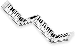Carry-on Folding Piano - White Portable Digital 88 Key Piano