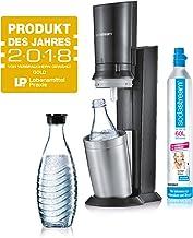SodaStream Crystal 2.0 Arroseur à eau avec 1 carafe et 2 carafes en verre 0,6l Couleur: Titane Arroseur à eau potable, aci...