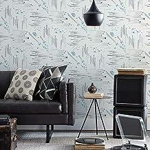 تصميم ستار وورز RMK11801WP من روم ميتس: ورق جدران سهل التقشير واللصق بتصميم معارك المجرة باللونين الابيض والازرق
