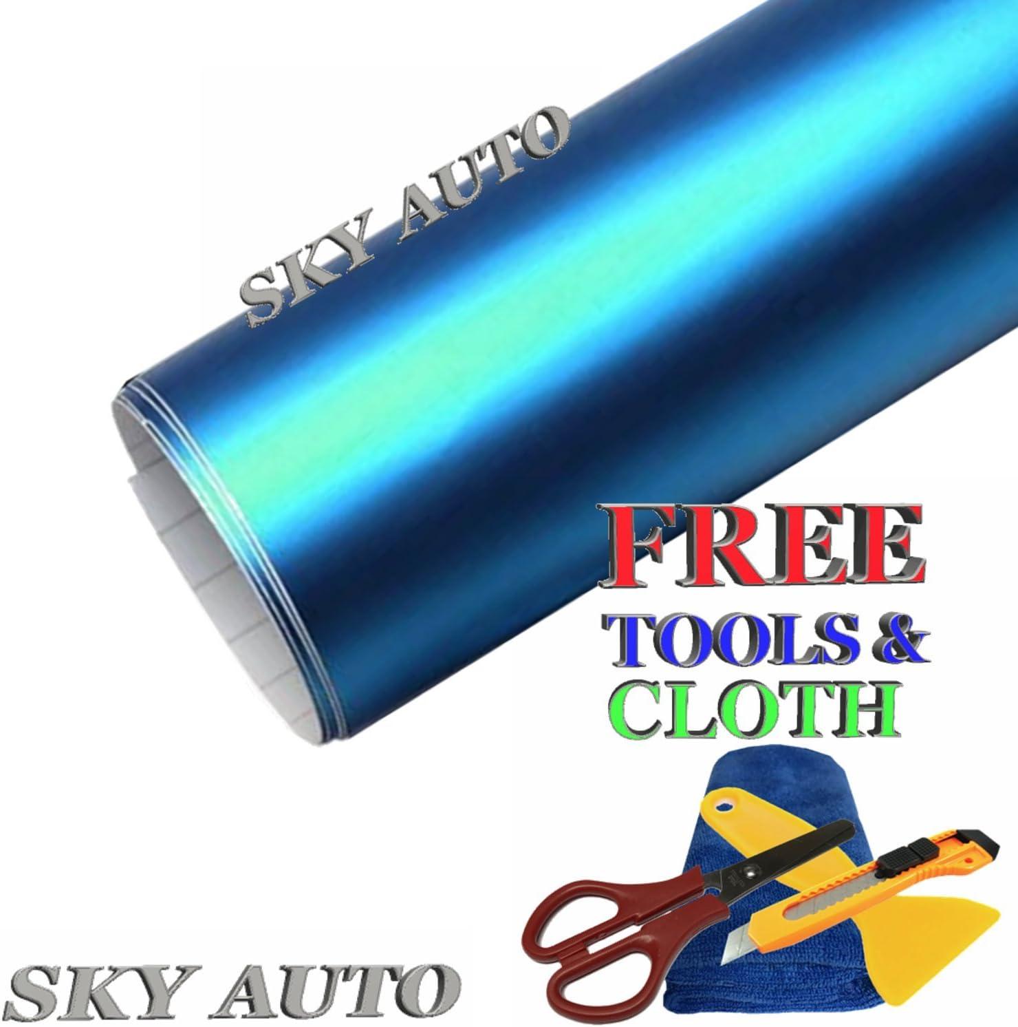 Sky Auto INC Premium Car 35% OFF Satin Plating Vinyl Chrome Film W Nippon regular agency Matte
