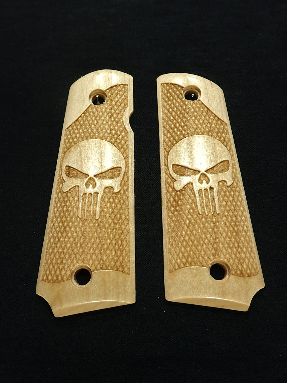 Punisher #2 Great interest Maple Grips Compatible El Paso Mall Replacement for Browning 1911