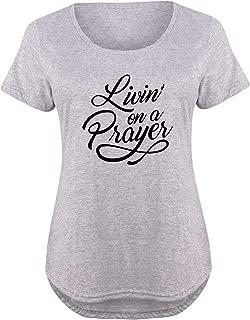 Livin On A Prayer - Ladies Plus Size Scoop Neck Tee