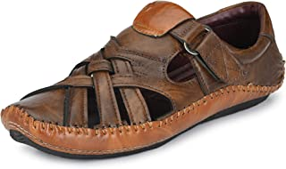 WOODBAY Mens Ethnic Criss-Cross Strap Casual Shoes