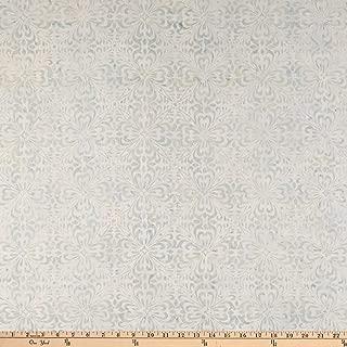 Wilmington Prints Batiks Fancy Tiles Light Gray Fabric Fabric by the Yard