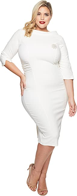 Unique Vintage - Plus Size Lucinda Wiggle Dress